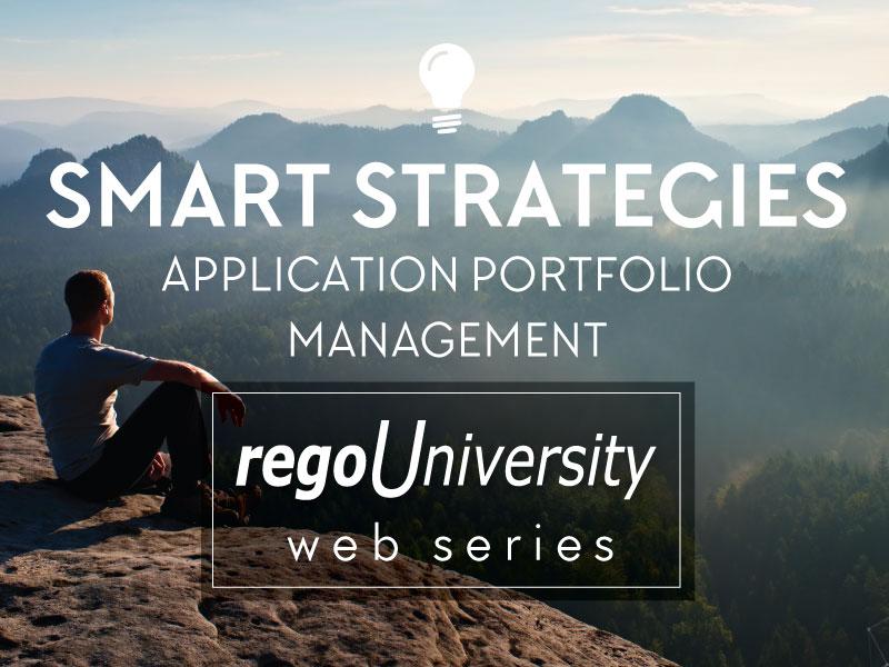 regoUniversity | Smart Strategies for Application Portfolio Management (APM)