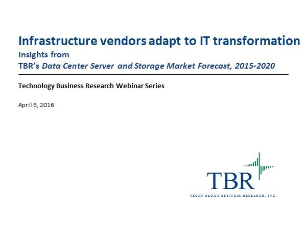 Infrastructure vendors adapt to IT transformation