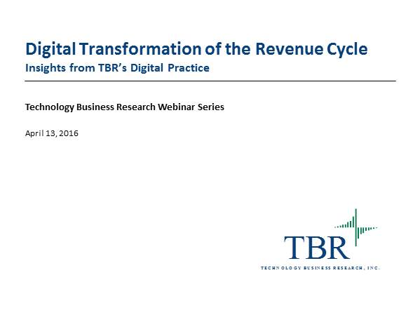 Digital Transformation of the Revenue Cycle