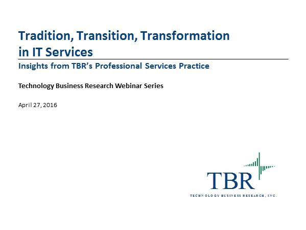 Tradition, Transition, Transformation in IT Services