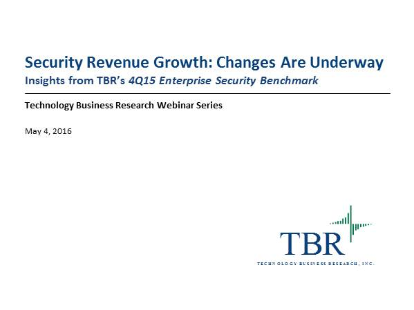 Security Revenue Growth: Changes are Underway