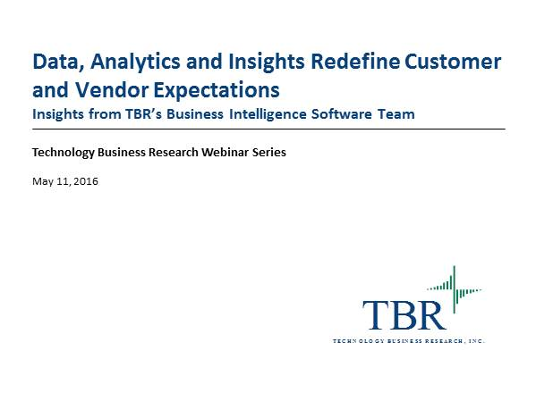Data, Analytics and Insights Redefine Customer and Vendor Expectations