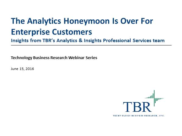 The Analytics Honeymoon Is Over For Enterprise Customers