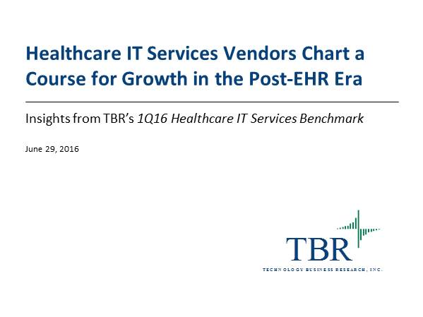 Healthcare IT Services Vendors Chart a Course for Growth in the Post-EHR Era