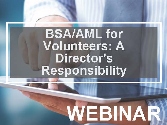 BSA/AML for Volunteers: A Director's Responsibility