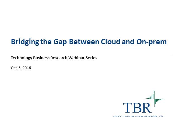 Bridging the Gap Between Cloud and On-Prem