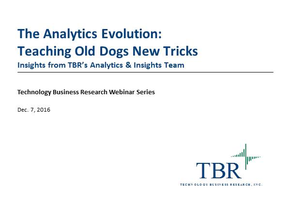 The Analytics Evolution: Teaching Old Dogs New Tricks