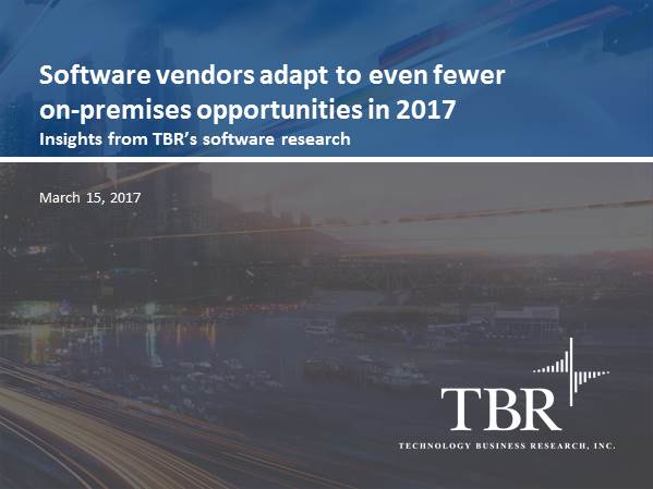 Software Vendors Adapt to Fewer On-Premises Opportunities in 2017