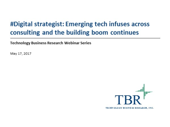 #Digital strategist: Anticipating the path as emerging tech permeates, infuses and scales across consulting
