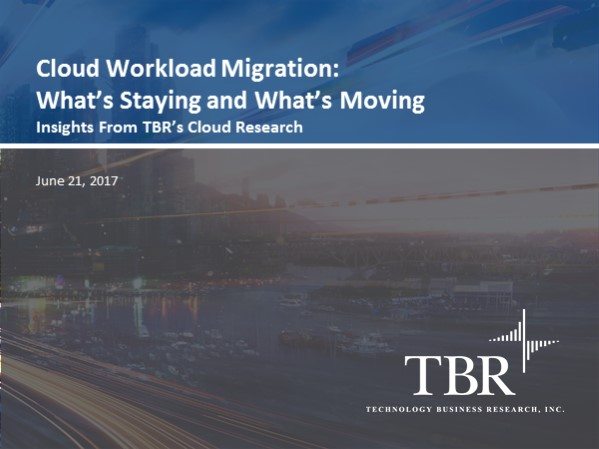 Cloud workload migration: What's staying and what's moving
