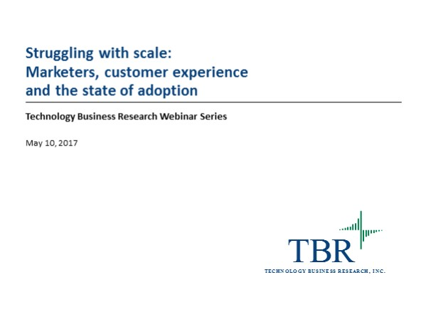 Struggling with scale: Marketers, customer experience and the state of adoption