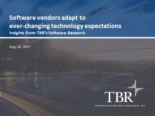 Software vendors adapt to ever-changing technology expectations