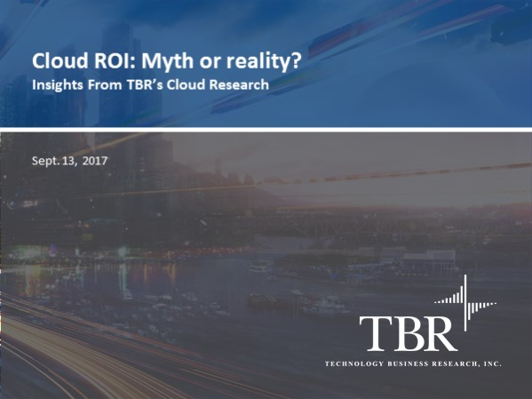 Cloud ROI: Myth or reality?