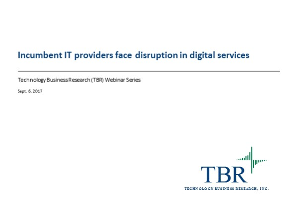 Incumbent IT providers facing disruption in digital services