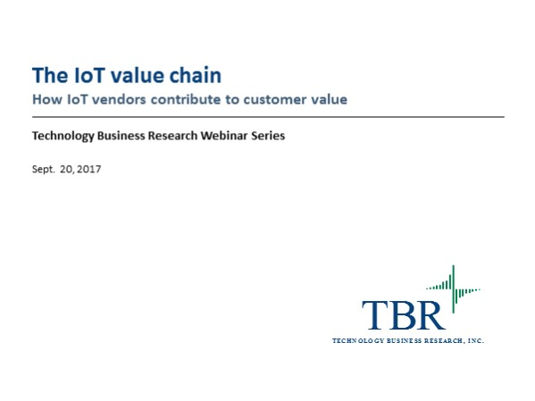 The IoT value chain: How IoT vendors contribute to customer value