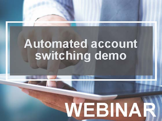 Automated account switching powered by ClickSWITCH demo