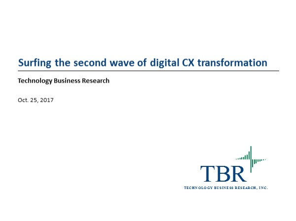 Surfing the second wave of digital CX transformation