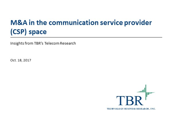 M&A in the telecom operator space: Drivers, trends and implications