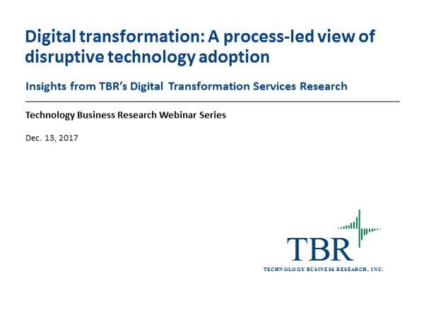 Digital transformation: A process-led view of disruptive technology adoption