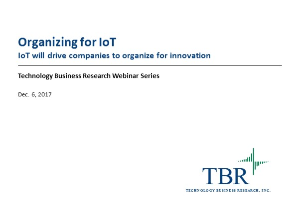 IoT will drive companies to organize for innovation