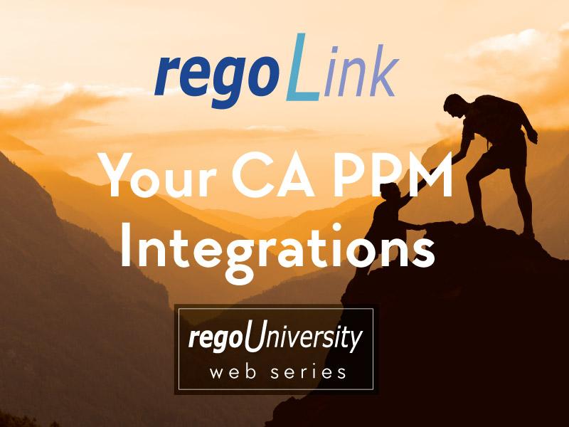 regoLink - Your CA PPM Integrations