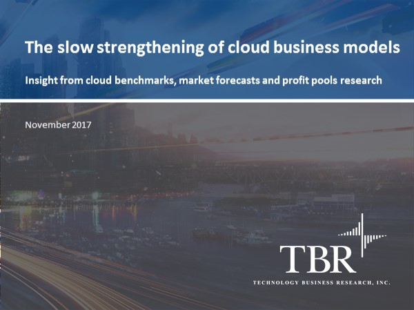 The slow strengthening of cloud business models