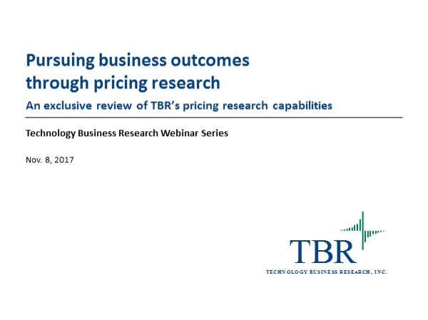 Pursuing business outcomes through pricing research
