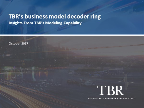 The business model decoder ring:  How TBR's financial models reveal changes in IT markets