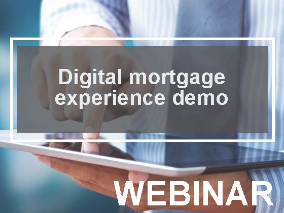 Digital mortgage experience demo