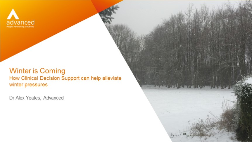 How Clinical Decision Support can help alleviate winter pressures