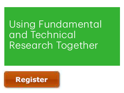 Markets & Research: Using Fundamental and Technical Research Together