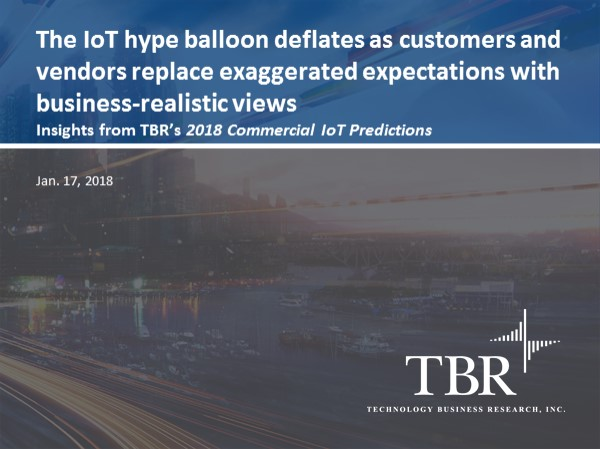 The IoT hype balloon deflates as customers and vendors replace exaggerated expectations with business-realistic views