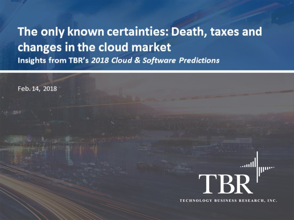 The only known certainties: Death, taxes and changes in the cloud market