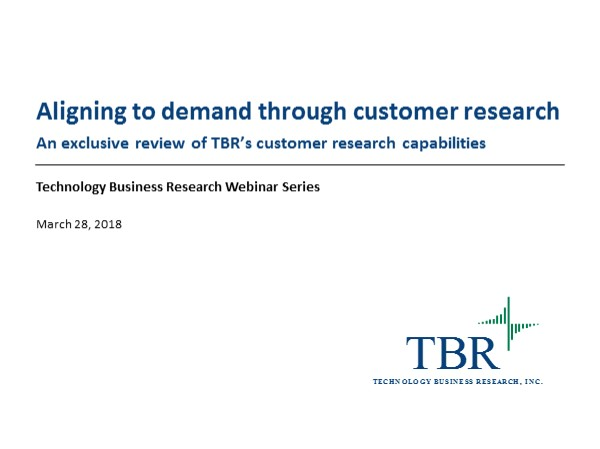 Aligning to demand through customer research
