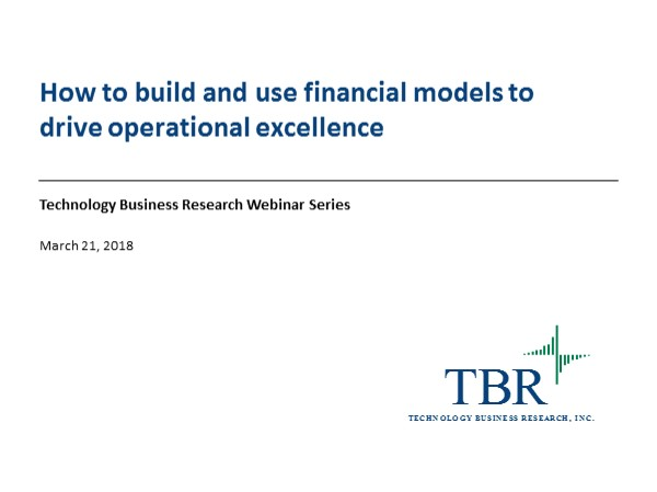 How to build and use financial models to drive operational excellence