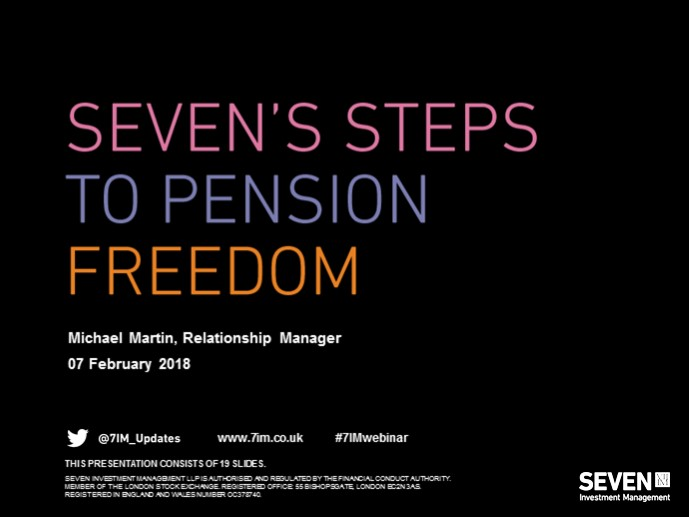 Seven's steps to pension freedom