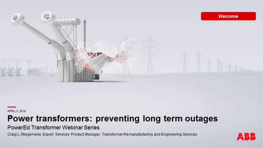 Power transformers: Preventing long term outages