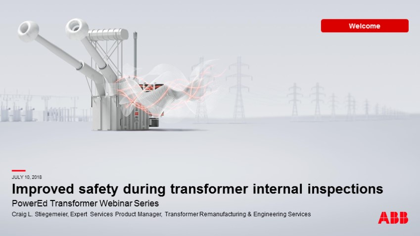 Improve safety using internal transformer inspections