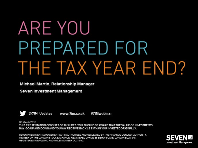 Are you prepared for the tax year end?