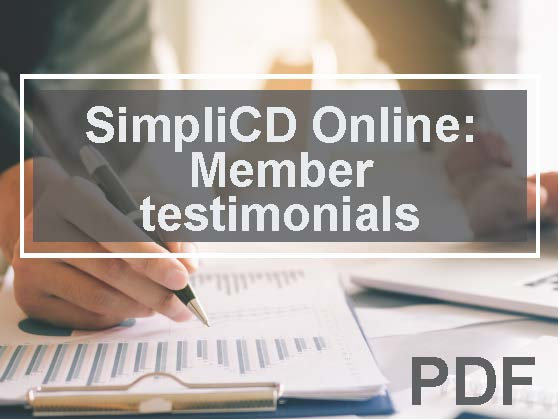 SimpliCD Online: Member testimonials, plus four reasons to invest in SimpliCD right now