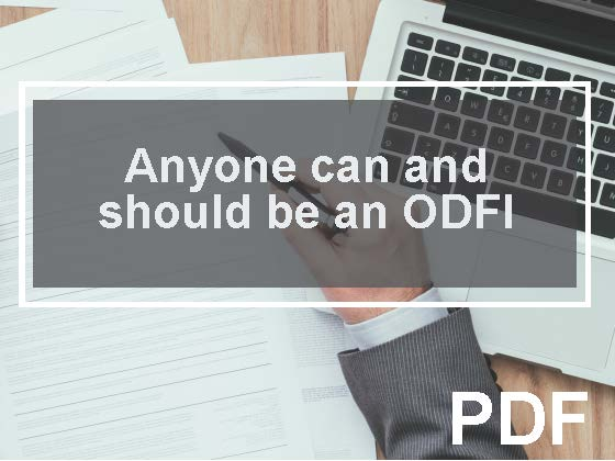 Anyone can (and should) be an Originating Depository Financial Institution (ODFI)