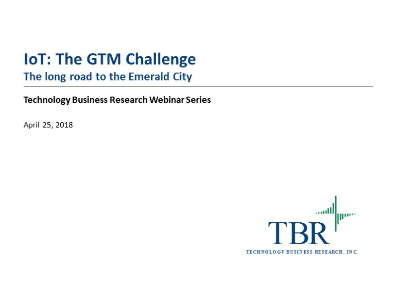 IoT: The GTM challenge
