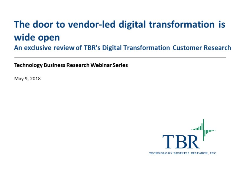 The door to vendor-led digital transformation is wide open
