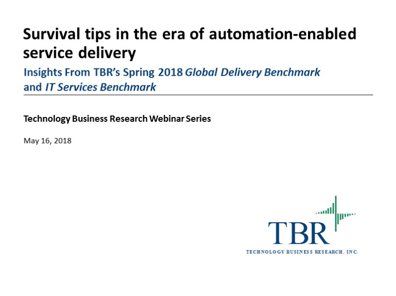 Survival tips in the era of automation-enabled service delivery