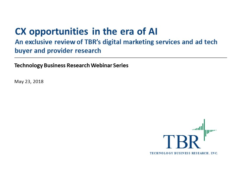 CX opportunities in the era of AI