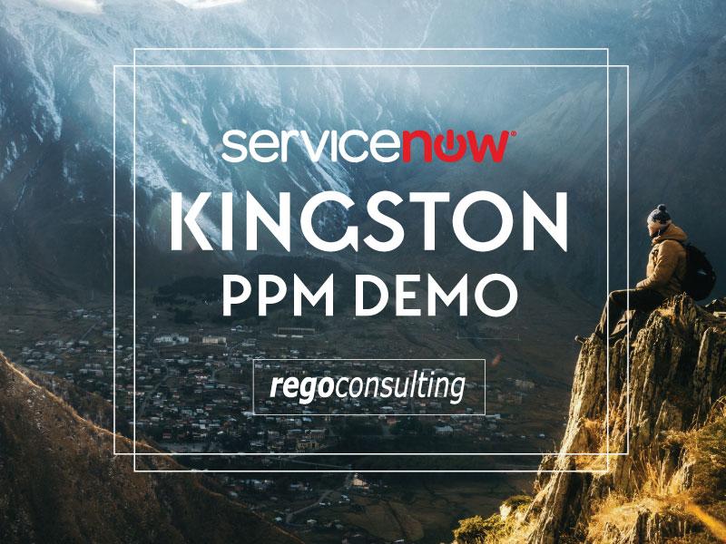 ServiceNow Kingston PPM Demo