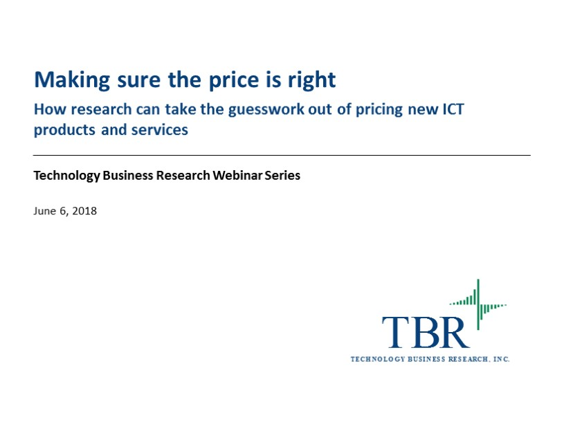 Making sure the price is right: How using research can take the guesswork out of pricing new ICT products and services