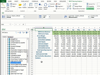 IBM Planning Analytics for Microsoft Excel (Coffee Break demo series)