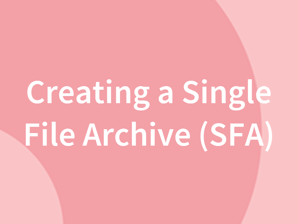 Creating a Single File Archive