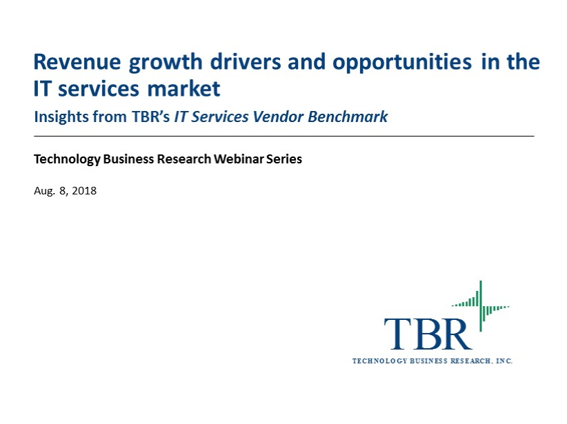 Revenue growth drivers and opportunities in the IT services market